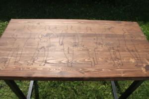 Лазерная гравировка на столешнице